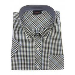 Pánská kostkovaná  košile s krátkým rukávem (obvod 180-200 cm) v nadměrné velikosti