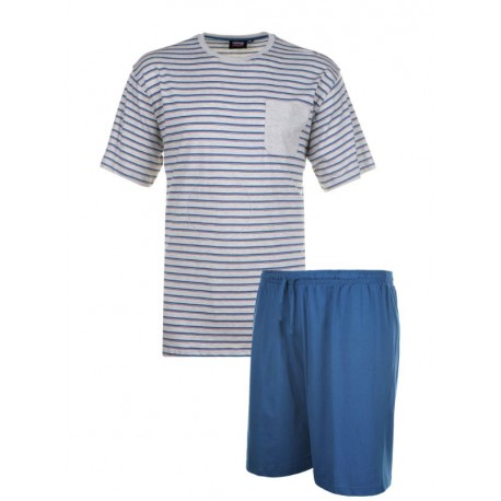 Pyžamo s krátkým rukávem a šortkami v nadměrné velikosti