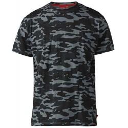 Tričko s krátkým rukávem maskáčové v nadměrné velikosti