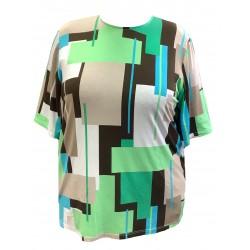 Dámské tričko se vzorem v nadměrné velikosti