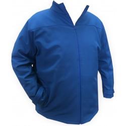Sofshellová bunda modrá v nadměrné velikosti