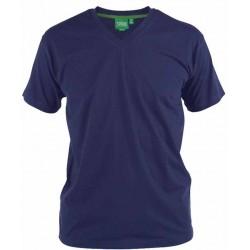 "Tričko jednobarevné s výstřihem do ""V"" v nadměrné velikosti"