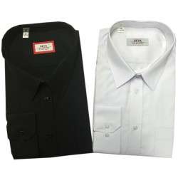 Pánská košile jednobarevná (B) s dlouhým rukávem v nadměrné velikosti
