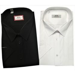 Pánská košile jednobarevná (B) s krátkým rukávem v nadměrné velikosti
