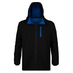 Softshellová bunda s odepínací kapucí - v nadměrné velikosti