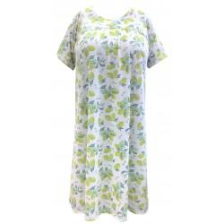Dámská noční košile s krátkým rukávem a sedlem v nadměrné velikosti