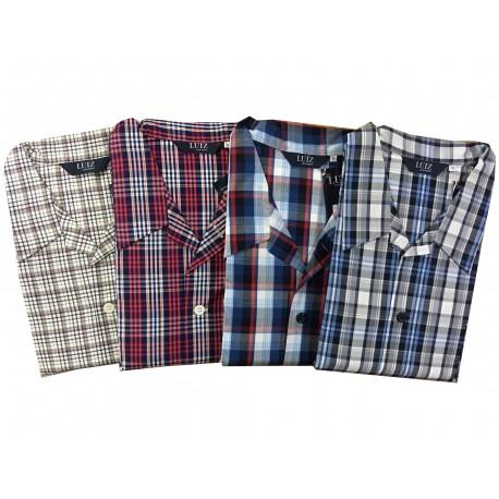 Pyžamo klasické popelínové v nadměrné velikosti