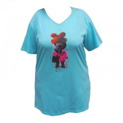 Maxi triko s obrázkem kočky