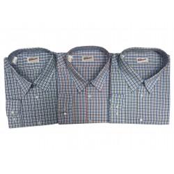 Pánská košile kostkovaná s dlouhým rukávem v nadměrné velikosti