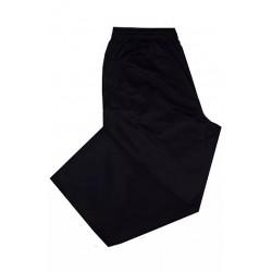 Tepláky - domácí kalhoty černé v nadměrné velikosti