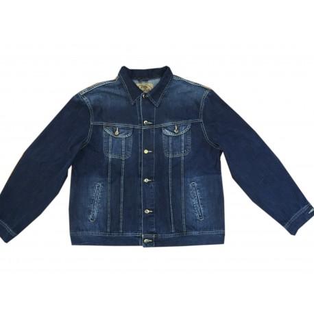 Pánská džínová bunda v nadměrné velikosti