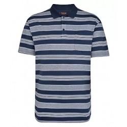 Tričko proužkované s límečkem v nadměrné velikosti