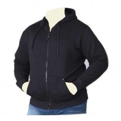 Mikina s kapucí na zip v nadměrné velikosti