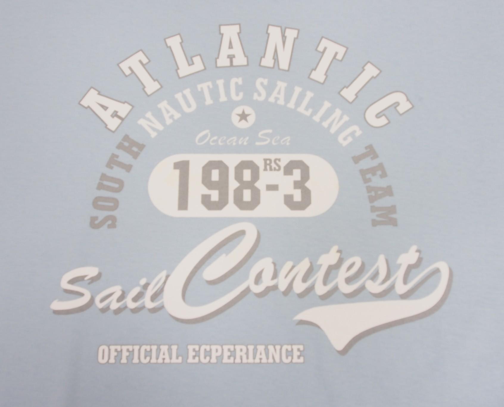 Atlantic - Bledě modrá s bílou