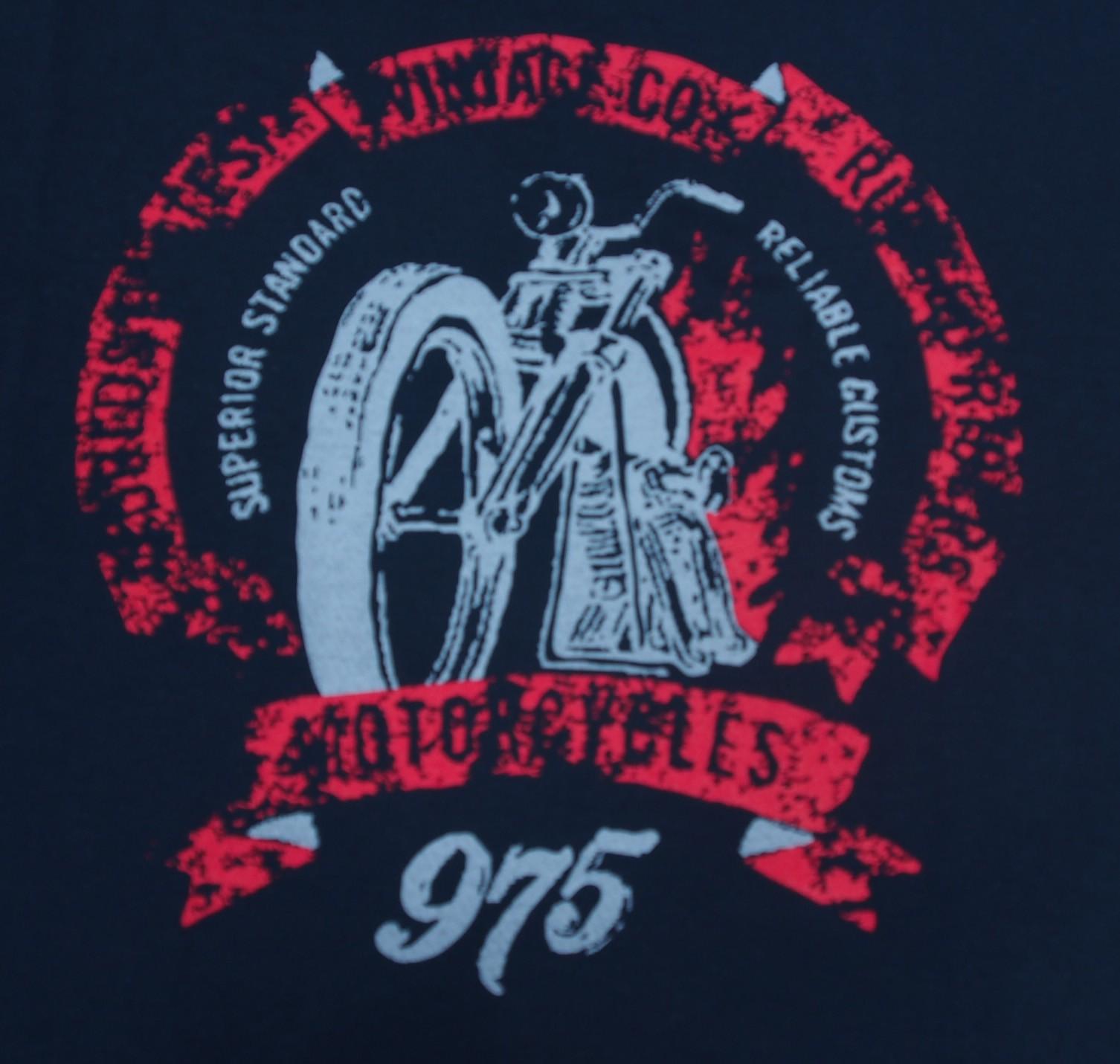 Motorka - Černá s červenou
