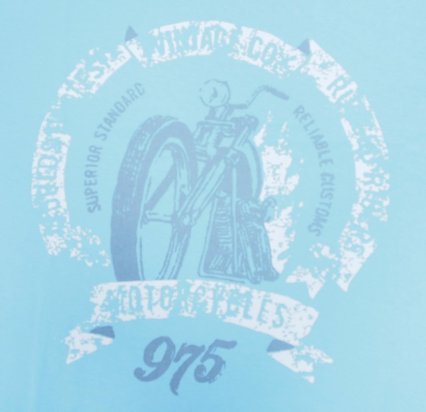 Motorka - Světle modrá s bílou