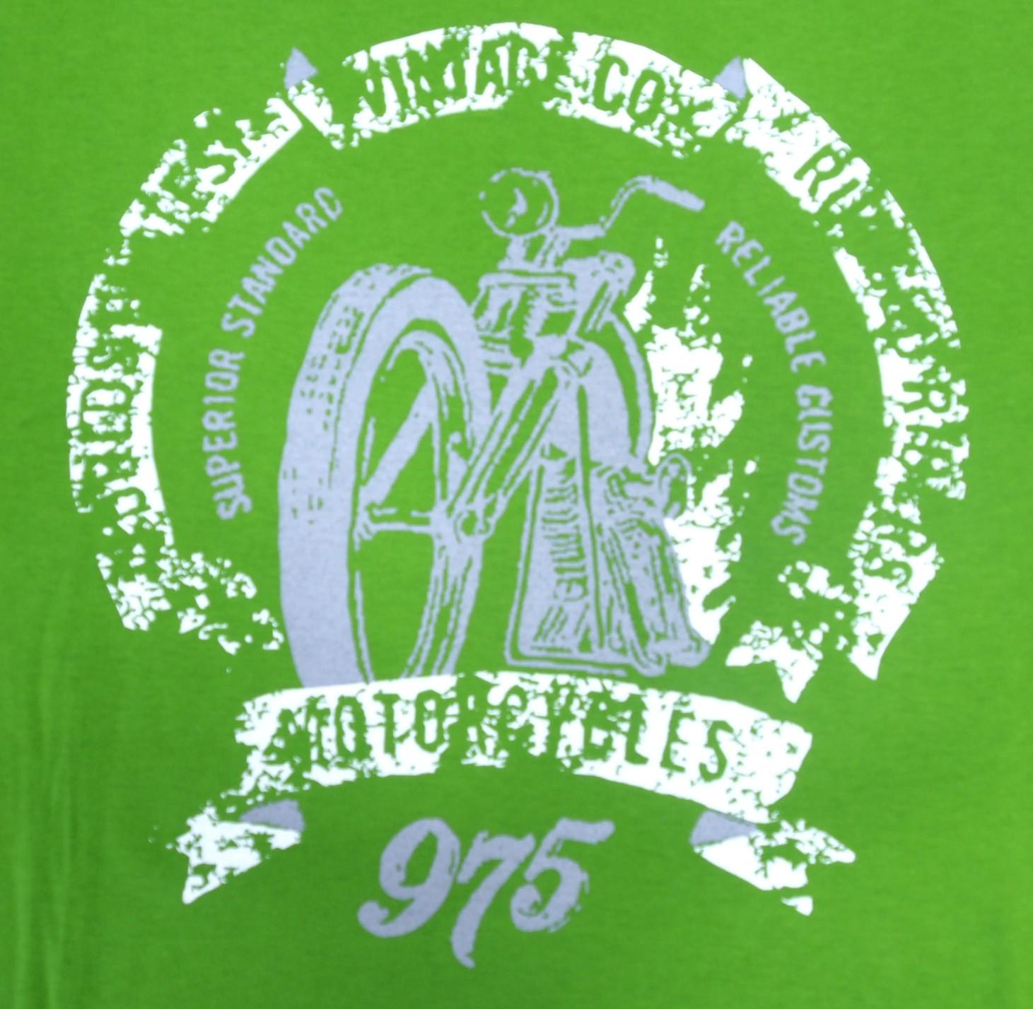 Motorka - Zelená s bílou
